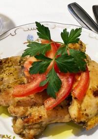 タラゴンマスタードの鶏モモ肉チキンソテー