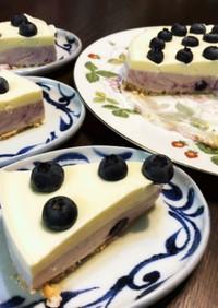 ブルーベリーチーズケーキ 2層