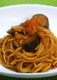 チーズの酷☆茄子のトマトソーススパゲティ