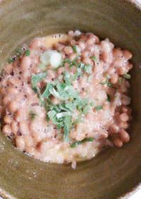 クマの納豆卵かけご飯2
