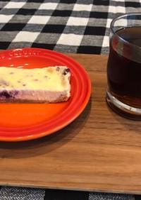 レンジで ブルーベリーチーズケーキ