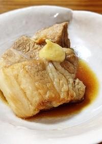 豚ばらブロックで煮豚じゃなくて角煮。