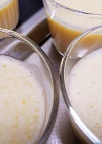 粉寒天で白桃の豆乳プリン