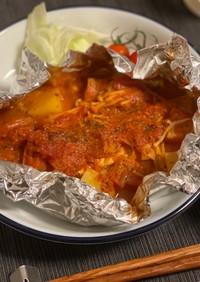 鮭のホイル焼き トマトアクアパッツァ風