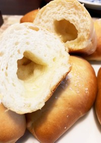 冷蔵庫で2次発酵、塩バターパン