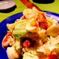 デリ風♡茹でキャベツのマスタードサラダ