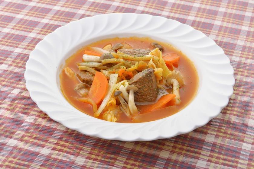 エゾシカ肉の北海道風カチャトーラ