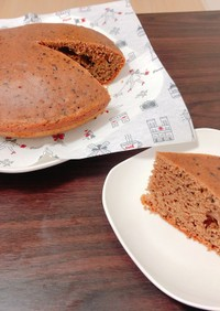 炊飯器で紅茶ケーキ
