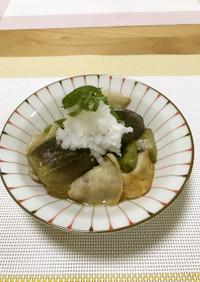 【野菜ソムリエ】京山科なすの煮びたし