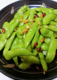 冷凍枝豆ペペロンチーノ