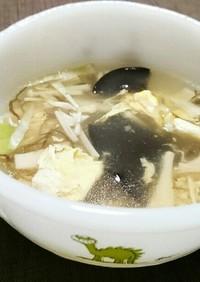きのこの酸辣湯風スープ