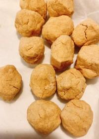 レンジでおからきなこクッキー