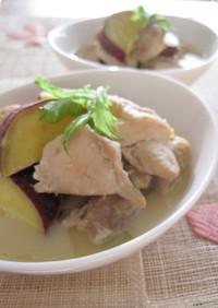 鶏肉とさつま芋のミルク味噌煮