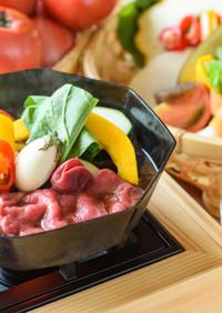 トマトソルベと特製割下で味わう夏SUKI