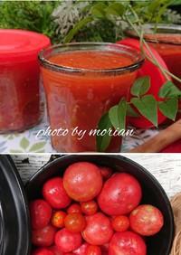 トマト大量消費保存に☆完熟トマトの水煮