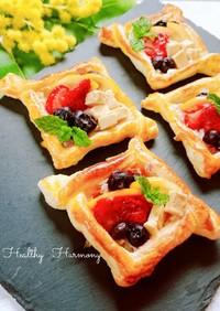 クリームチーズのフルーツパイ