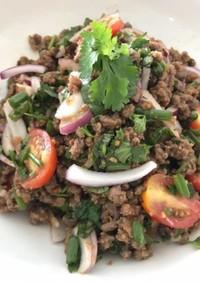 タイ風スパイシー挽肉サラダ ラープ