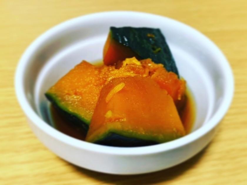 超シンプル レンジかぼちゃの煮物