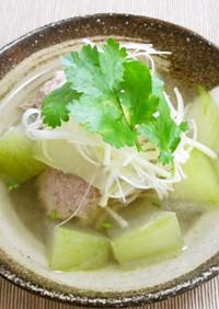 冬瓜と豚だんごのスープ