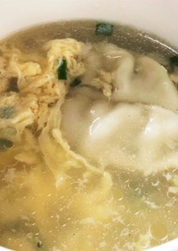 雪松の冷凍生餃子で簡単スープ