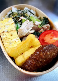小松菜と豚バラ炒め弁当