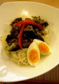 夏野菜のマーボー素麺(透析食)