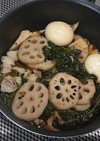 豚バラとゆでたまごの煮物