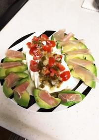 簡単おつまみ 豆腐サラダ