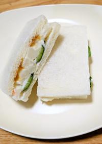 業スーのポテサラで簡単サンドイッチ