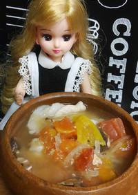 リカちゃん♡洋風?粕汁✋(◉ ω ◉`)