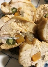 お弁当にも♬ヘルシームネ肉のゴボウ巻き
