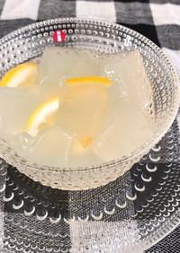 ひんやり美味しい はちみつレモン寒天
