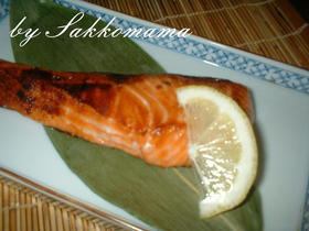 塩麹さん de 焼き魚☆.。.:*・゚