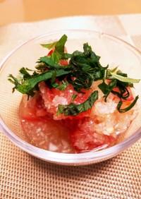 簡単★ひんやりトマトと玉ねぎのサラダ
