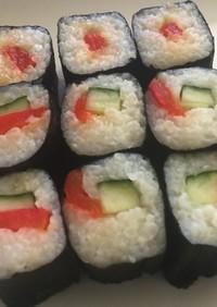 ベジタリアンOK パプリカの昆布締め寿司