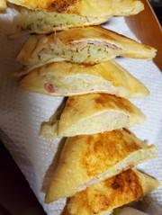 糖質制限☆チーズツナキャベツの薄揚げ餃子の写真