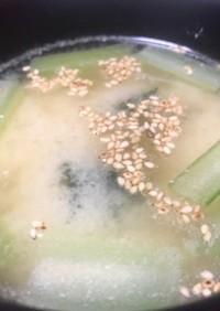 小松菜の白味噌汁♡