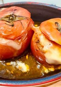 焼きトマト ミートソースグラタン風