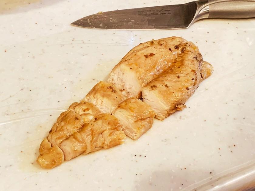 レンジで!サラダチキン(よだれ鶏風味)