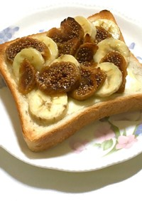 無花果バナナトースト