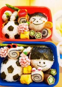 幼稚園のお弁当第65段!!サッカー♪