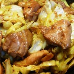 うちのケイちゃん(鶏の味噌漬けの炒め物)