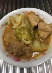 鶏肉の味噌炒め焼き(鶏ちゃん風)
