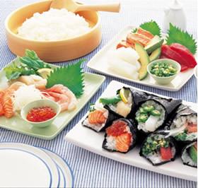 手巻き寿司の上手なのりの巻き方
