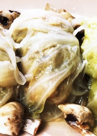 無水鍋で作るスープがうまいロールキャベツ