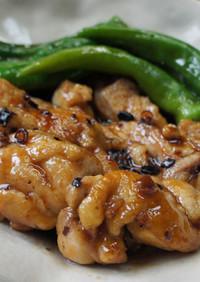 鶏肉と万願寺唐辛子の炒め煮