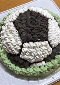サッカーボールのドームケーキ