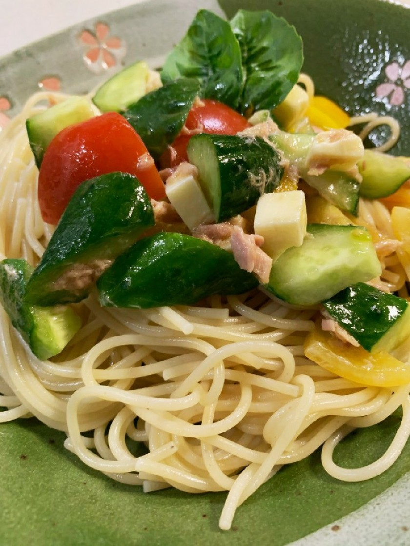 夏野菜のコロコロパスタ