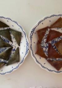 蓬と紫薩摩芋の生八ツ橋2種!餡にも拘って