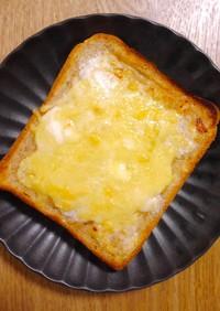幸せのメープル塩バターチーズトースト♡